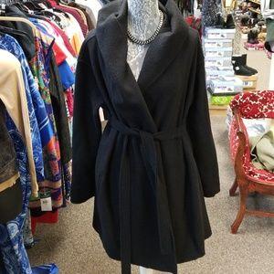 Tommy Bahama black wool cardigan sweater coat